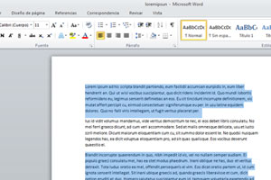 Seleccionar elementos no consecutivos en word