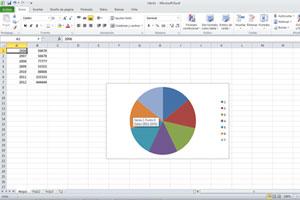 Seleccionar distintos elementos de un grafico en Excel.
