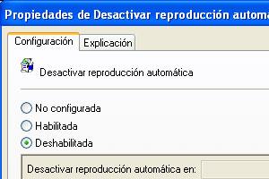 Como deshabilitar la reproducción automática de CD o DVD