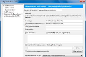 Como añadir la cuenta de correo de Gmail en Thunderbird