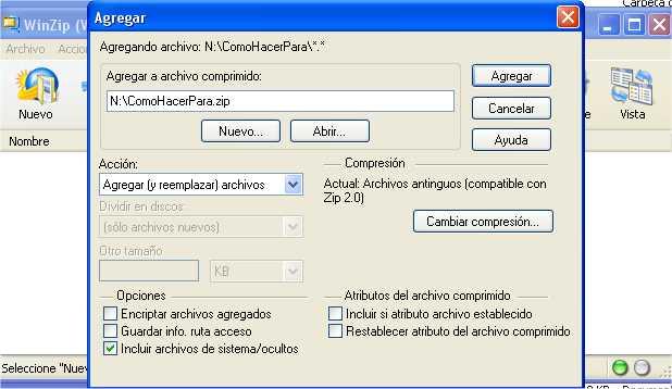 Como Comprimir Archivos con WinZip