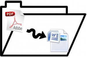 Programas gratis para pasar un archivo PDF a Word. Herramientas para trasladar un documento PDF a DOC. Cómo convertir archivos PDF a DOC