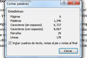Cómo revisar la cantidad de caracteres de un texto en Word 2007 y 2010