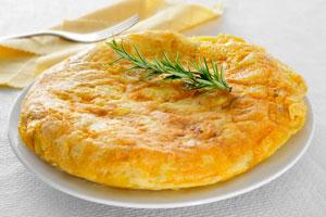 Tortilla de papas y cebolla a la española