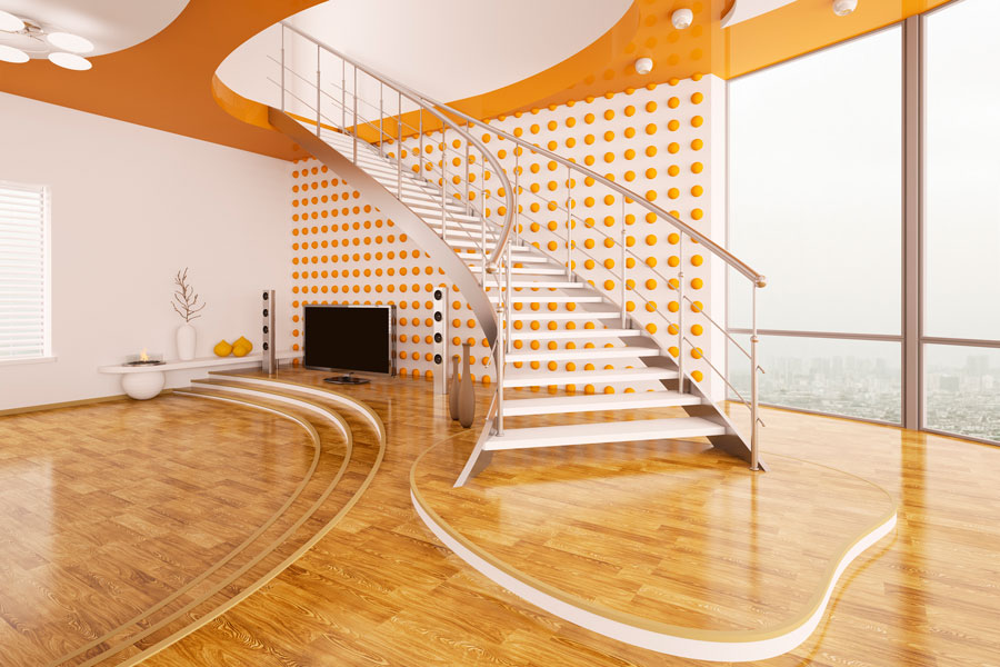 Cómo decorar una sala con escalones