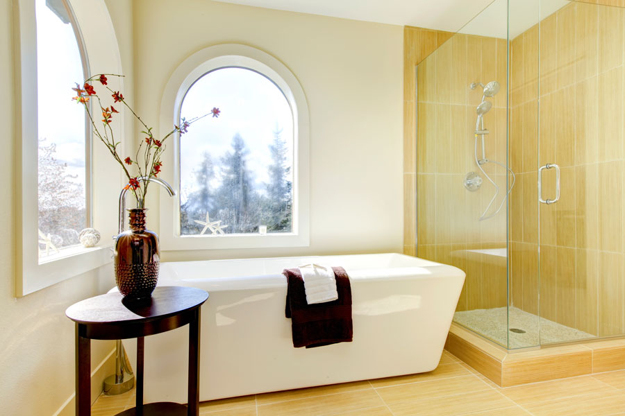 Decorar Un Baño Feng Shui:Stand Up Jet Tub with Shower and Bathroom