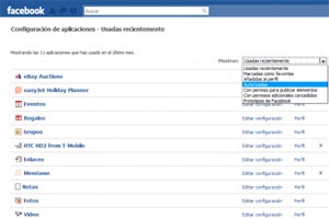 Como borrar los test y resultados de aplicaciones en Facebook