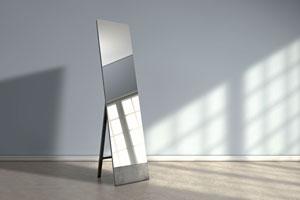 Como decorar un espejo simple