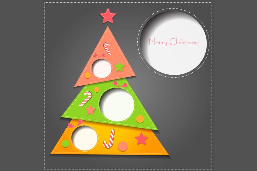 Tarjetas con Pliegues para Navidad