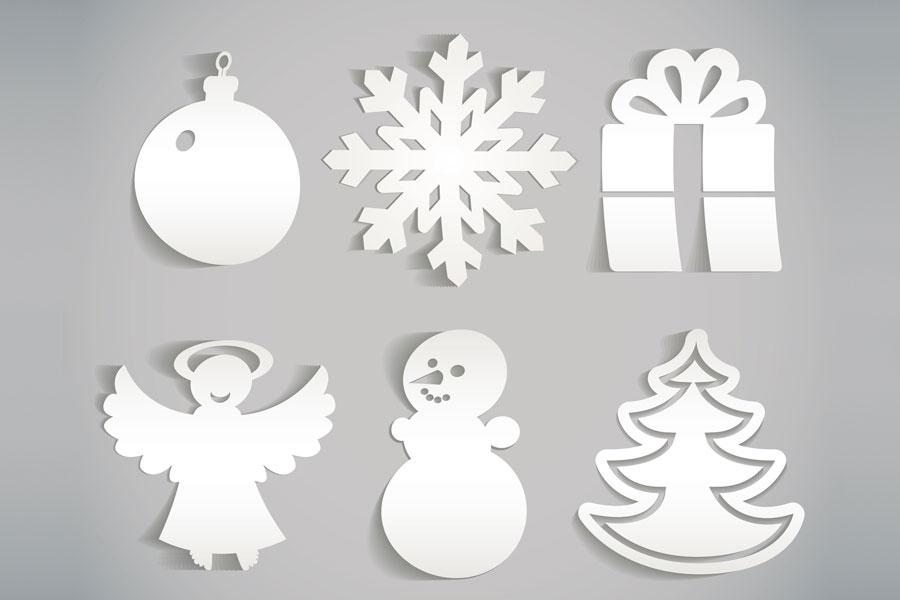 Adornos de papel para el rbol de navidad - Adornos de papel para navidad ...