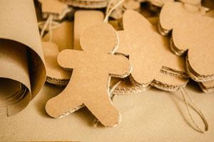 Pasos para crear adornos tridimensionales para el pino en navidad. Ideas muy originales para hacer adornos tridimensionales con cartón en Navidad