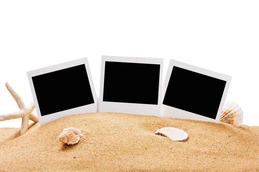Portaretrato con Arena de la Playa - Como hacer un portaretato original. Como decorar un portaretrato