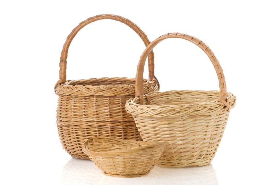 C mo limpiar canastas o cestos de mimbre - Como decorar una cesta de mimbre ...