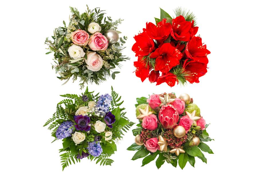 Cómo decorar con plantas y flores en Navidad