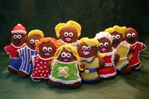 Cómo hacer falsas galletas de jengibre para decorar