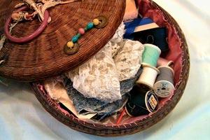 Cómo decorar un costurero