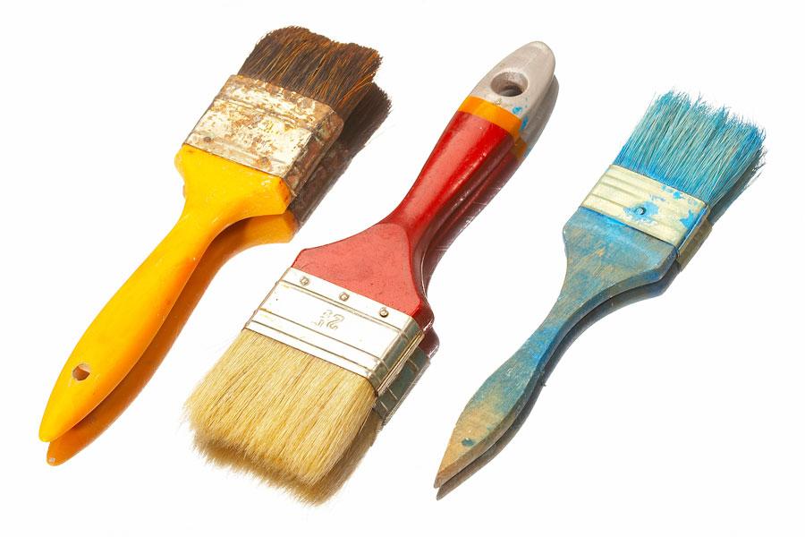 C mo limpiar las herramientas de pintura for Casa para herramientas