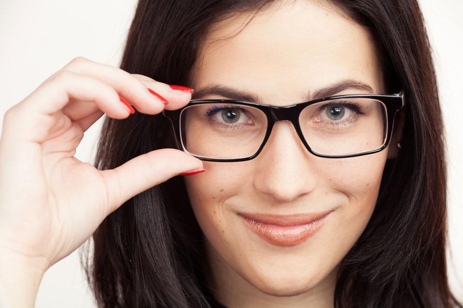 gafas segun el rostro mujer
