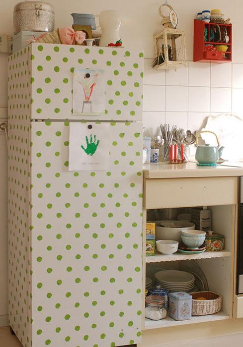 decorar cozinha velha:Cómo decorar la nevera para disimular su presencia