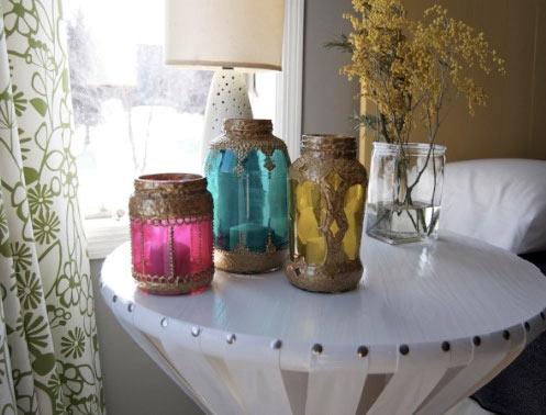 C mo hacer l mparas marroqu es con frascos - Farolillos para velas ...