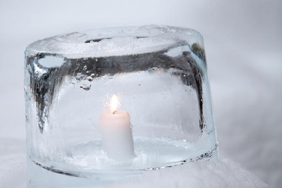 Cómo hacer linternas o fanales de hielo
