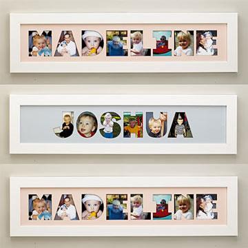 C mo hacer un cuadro con fotos y el nombre de tu hijo - Como hacer un cuadro con fotos familiares ...