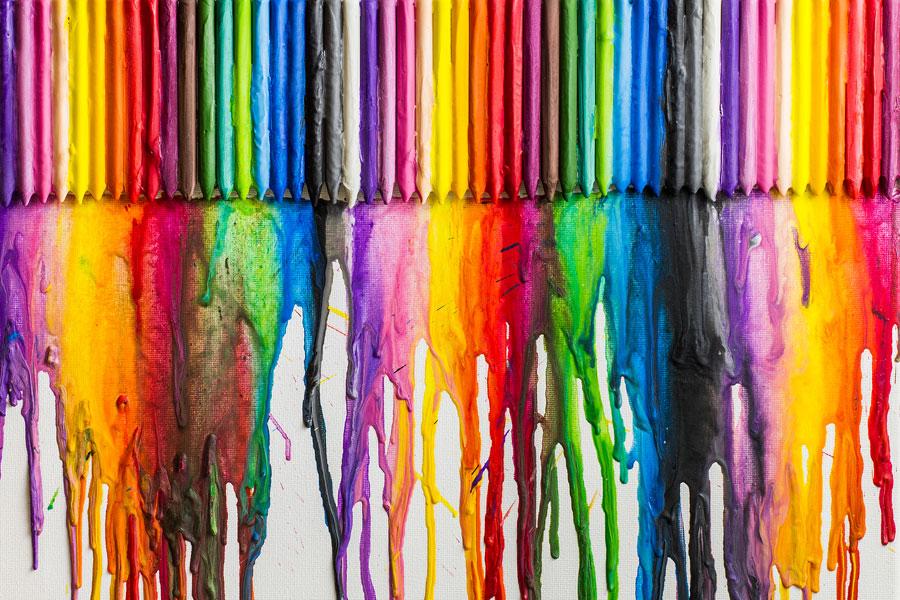 C mo pintar un lienzo con crayones derretidos - Como enmarcar un lienzo ...
