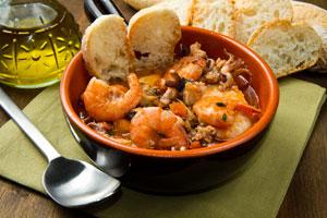 Receta para preparar sopa de mariscos. Guia para hacer sopa de mariscos. Ingredientes y preparación para hacer sopa de mariscos