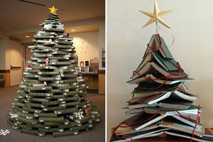 C mo hacer un arbol de navidad con libros - Como se adorna un arbol de navidad ...