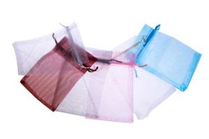 Cómo hacer bolsitas de tela para el baño