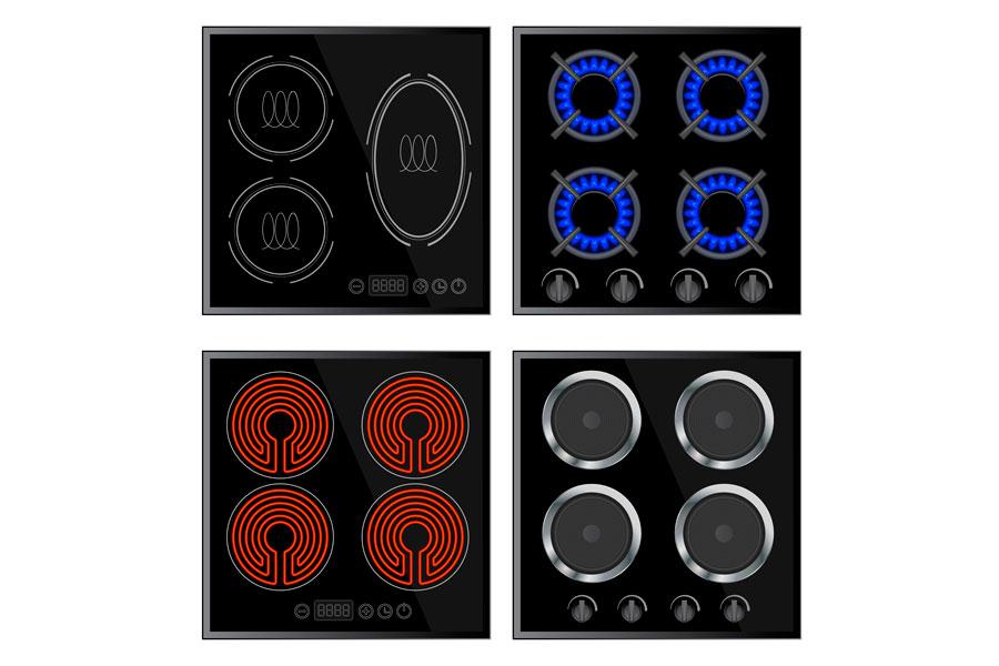 Placas de inducción y otros tipos de cocina