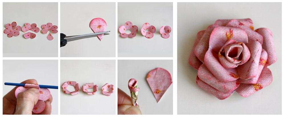 C mo hacer rosas de papel - Como se hacen rosas de papel ...