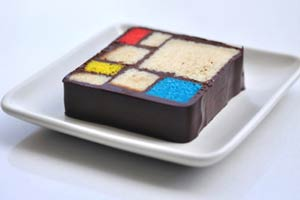 Cómo hacer una torta al estilo Mondrian