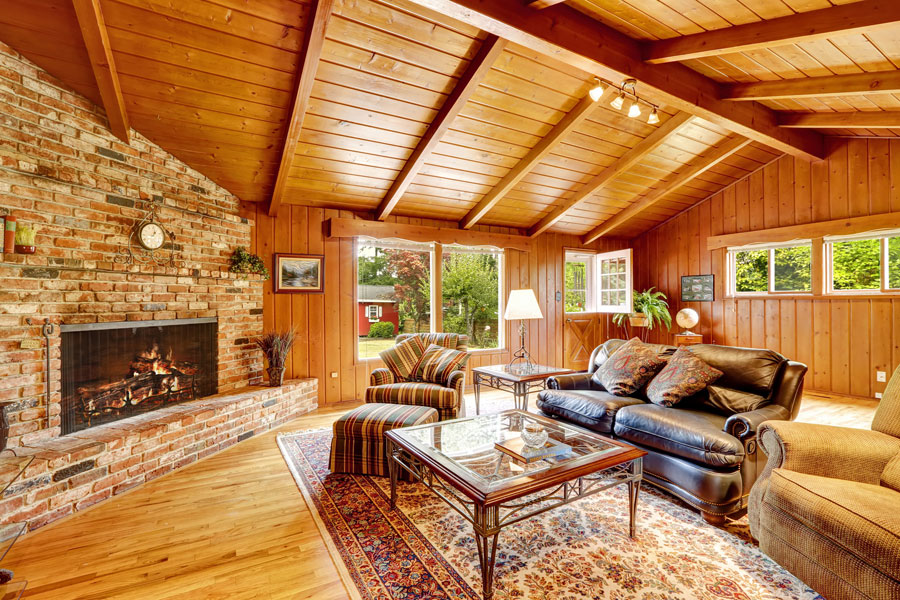 C mo decorar una casa de madera for Log cabin sunrooms