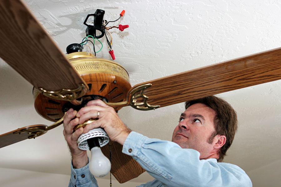 C mo instalar un ventilador de techo - Instalacion de ventilador de techo ...