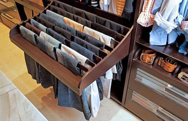 Un caj n para guardar los pantalones - Como vestir un armario empotrado ...