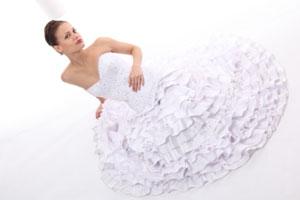 Cómo probar un vestido de novia