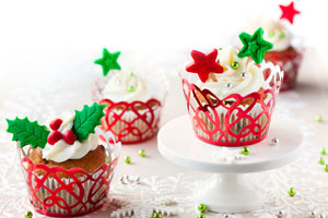 6 cupcakes para Navidad