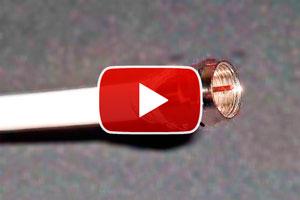 Pasos para armar un cable coaxial. Como colocar la ficha de un cable coaxial. Instalar conectores en un cable coaxial. Arma tu propio cable coaxial