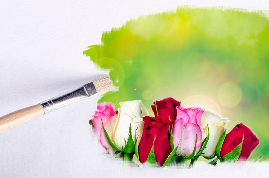 Métodos simples para hacer dibujos con flores. Cómo pintar flores con diversas tecnicas. Guia para aprender a pintar y dibujar flores