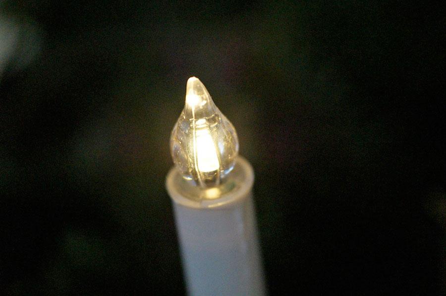 Velas el ctricas hechas con luces de navidad - Como fabricar velas ...