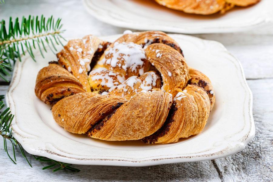Receta para preparar pan estrella relleno. Pasos para cocinar un pan estrella relleno. Ingredientes y preparación del pan estrella relleno