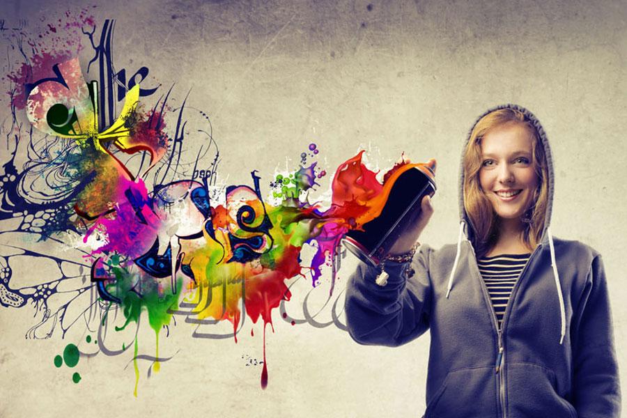 Ideas para decorar con pintura en spray - Pintura con spray ...