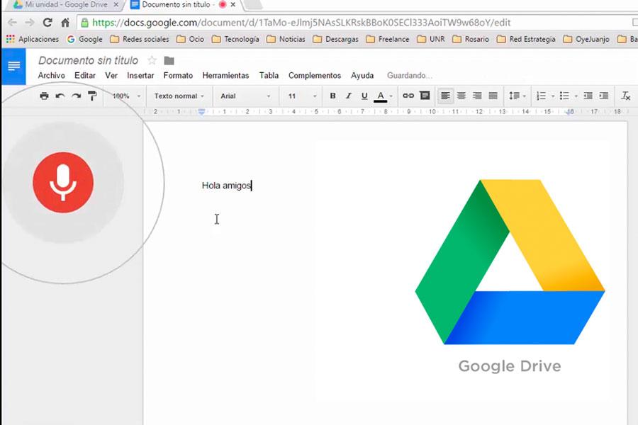 Cómo transformar voz en texto usando Google Drive. Herramientas para dictar en Drive. Activar el dictado de voz en Drive. Cómo pasar voz a texto