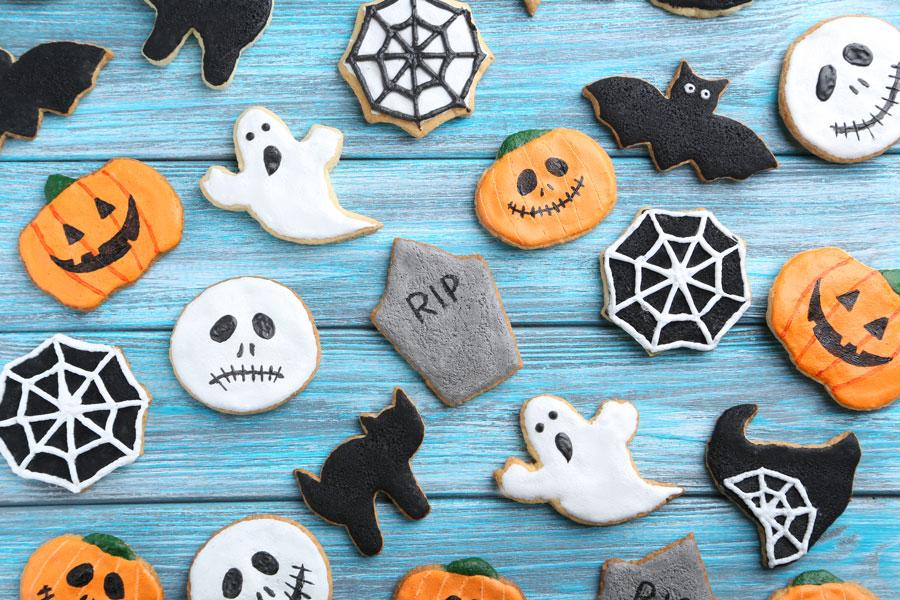 Ideas para decorar las galletas de Halloween. Cómo hacer galletas fáciles de Halloween. Galletas