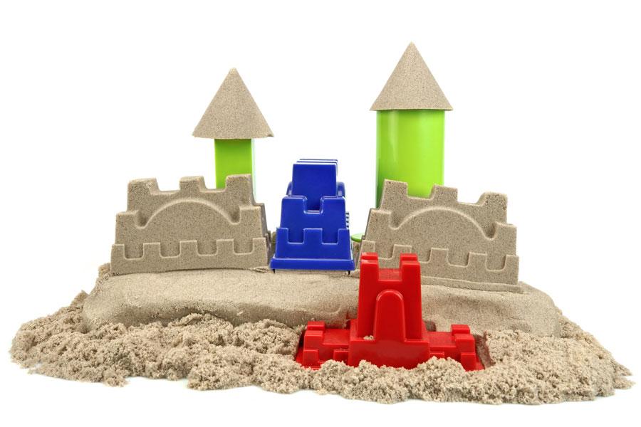 Cómo preparar arena para modelar. Cómo hacer arena mágica casera. Fabricar arena moldeable en casa. Ingredientes para hacer arena de modelar