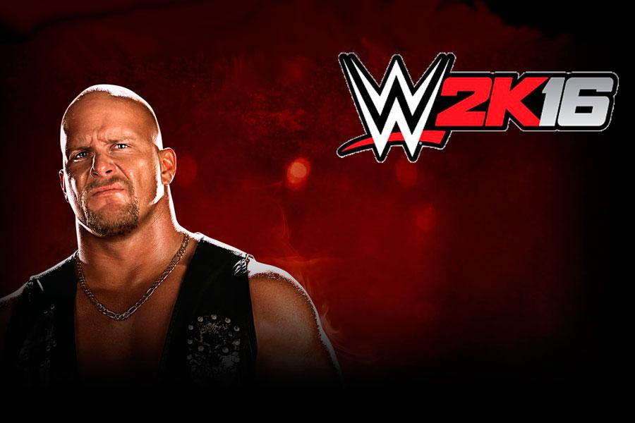 Portada del juego WWE 2K16.