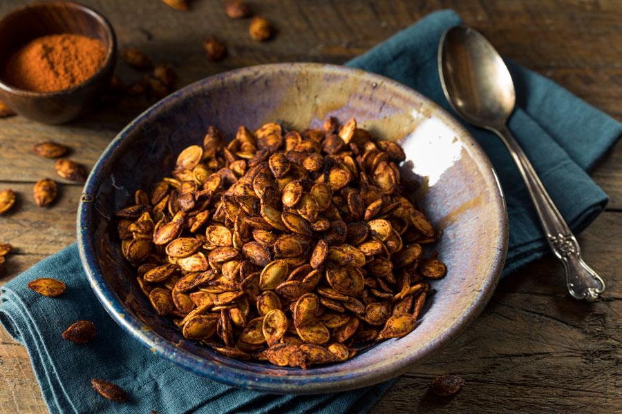 Cómo preparar semillas caramelizadas. Cómo hacer semillas acarameladas. Receta para preparar semillas tostadas y caramelizadas